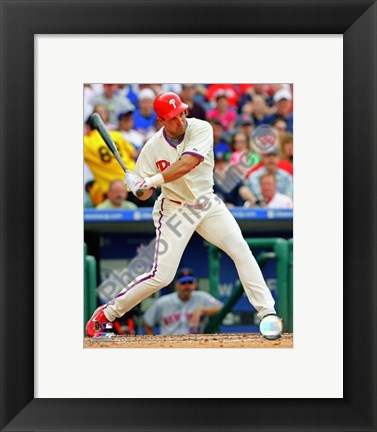 Framed Pat Burrell 2008 Batting Action Print