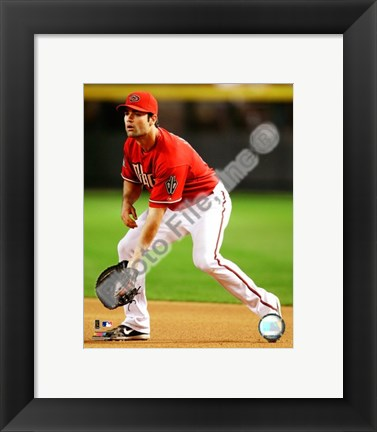 Framed Conor Jackson 2008 Fielding Action Print