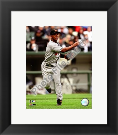 Framed Melvin Mora 2008 Fielding Action Print