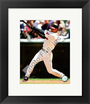 Framed Grady Sizemore 2008 Batting Action Print