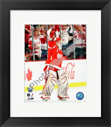 Framed Chris Osgood, first star of Game 1 of the 2008 NHL Stanley Cup Finals; #4 Print