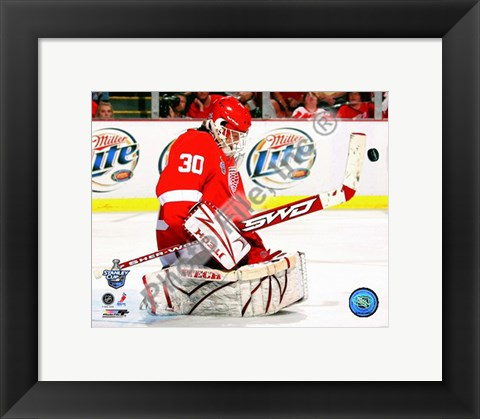 Framed Chris Osgood Game 2 of the 2008 NHL Stanley Cup Finals Action; #6 Print