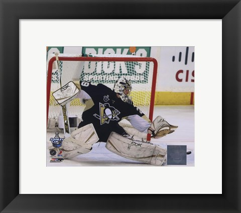 Framed Marc-Andre Fleury Game 3 of the 2008 NHL Stanley Cup Finals Action; #11 Print