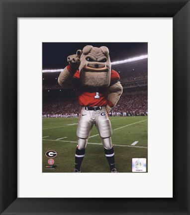 Framed Univserity of Georgia Bulldogs Mascot 2007 Print