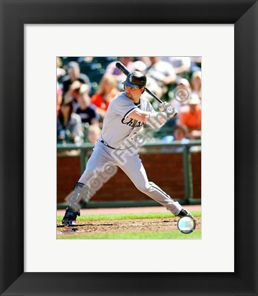 Framed Nick Swisher 2008 Batting Action Print