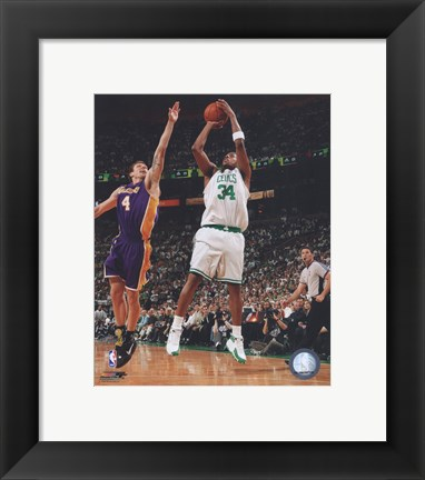 Framed Paul Pierce, Game 1 of the 2008 NBA Finals; Action #2 Print