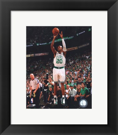 Framed Ray Allen, Game Six of the 2008 NBA Finals; Action #24 Print