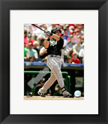 Framed Mike Jacobs 2008 Batting Action Print
