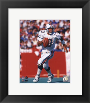 Framed Dan Marino Action Print