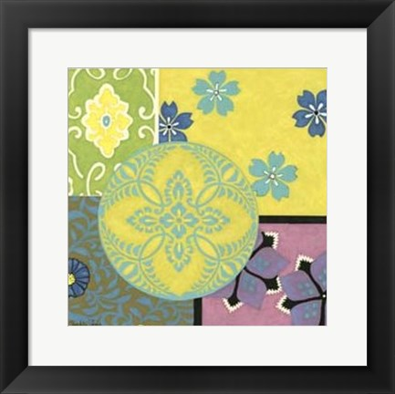 Framed Small Blooming Medallion II Print