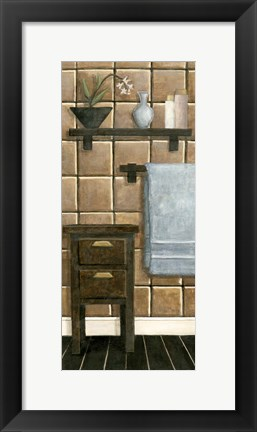 Framed Modern Bath Panel IV Print