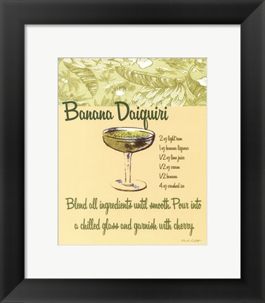 Framed Banana Daiquiri Print