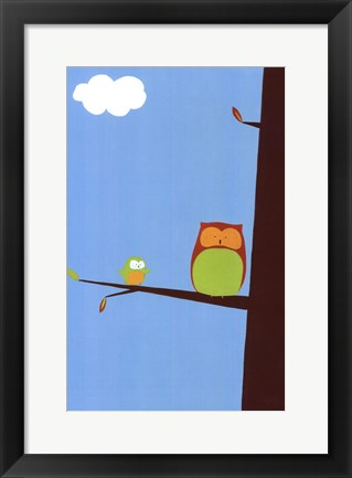 Framed Tree-top Owls II Print