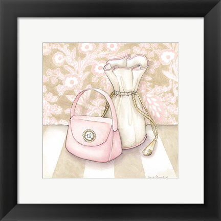Framed Posh Powder Room IV Print
