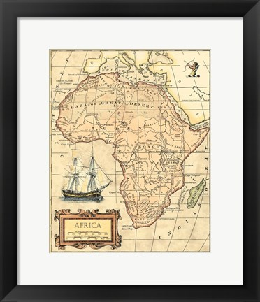 Framed Africa Map Print