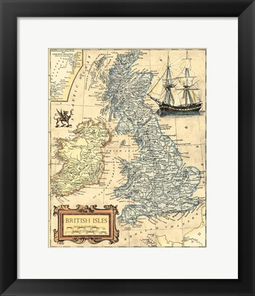 Framed British Isles Map Print
