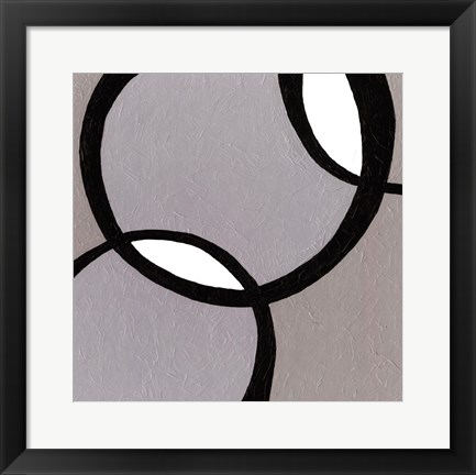 Framed Ellipse I Print