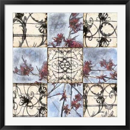 Framed Iron & Blooms Print