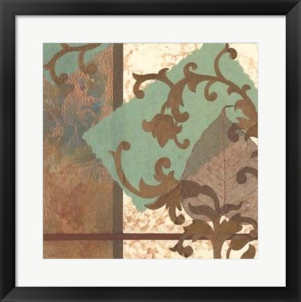 Framed Copper Scroll II Print