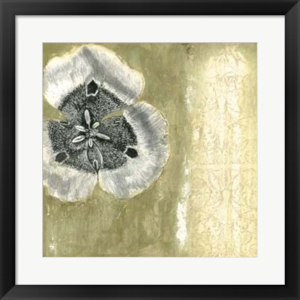 Framed Celadon in Bloom II Print