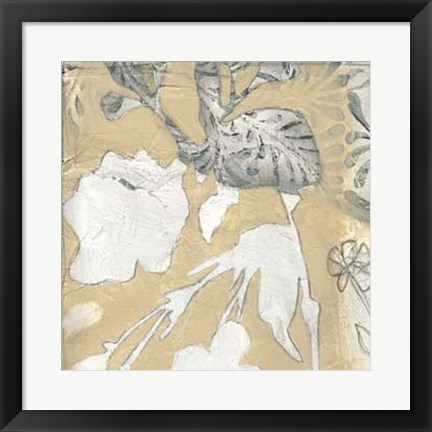 Framed Neutral Garden Abstract I Print