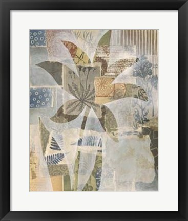Framed Collage and Silhouette II Print