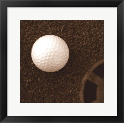 Framed Sepia Golf Ball Study I Print