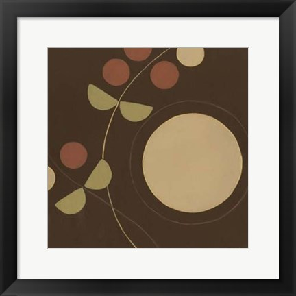 Framed Autumn Orbit I Print