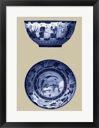 Framed Porcelain in Blue and White II Print