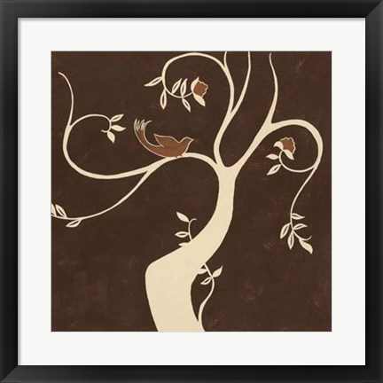 Framed Willow Fresco I Print