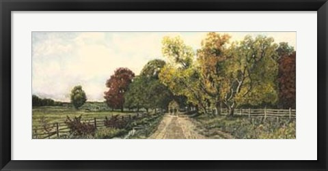 Framed Country Road Print