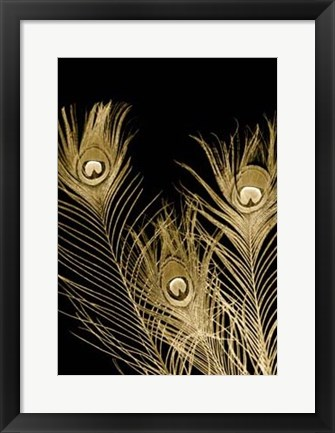 Framed Plumes D'or I Print