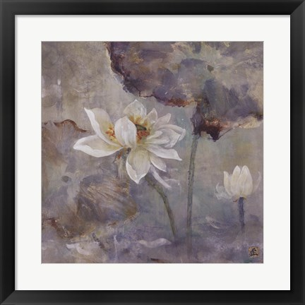 Framed Water Lily I Print