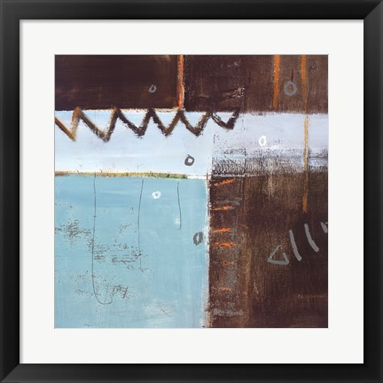 Framed Fish Pier I Print