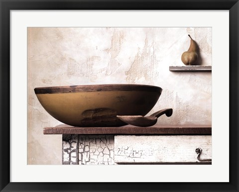 Framed Bowl and Pear Print
