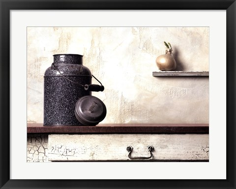 Framed Jug with Onion Print