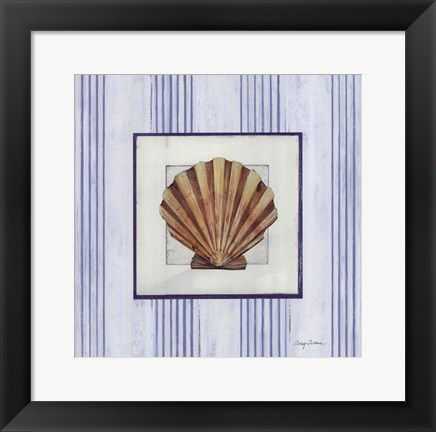 Framed Sanibel Shell I Print
