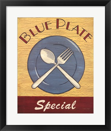 Framed Blue Plate Special Print