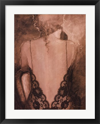 Framed Evening Lace II Print
