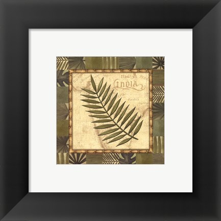 Framed Tropical Leaf I - special Print