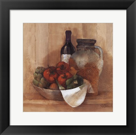 Framed Tuscan Table III Print