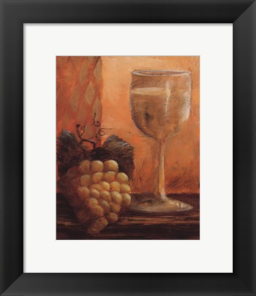 Framed Grapes and Wine III Print