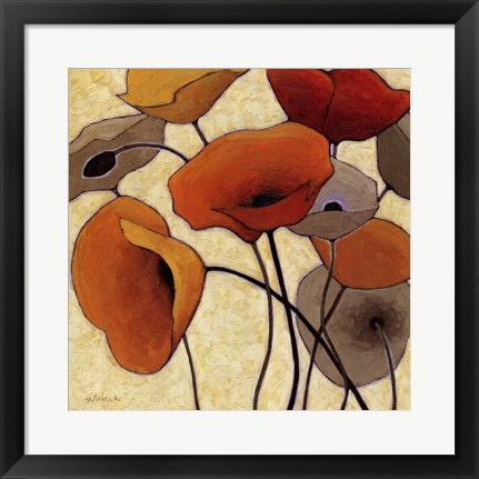 Framed Pumpkin Poppies III Print