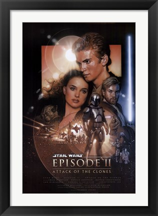 Framed Star Wars - Episode II Print