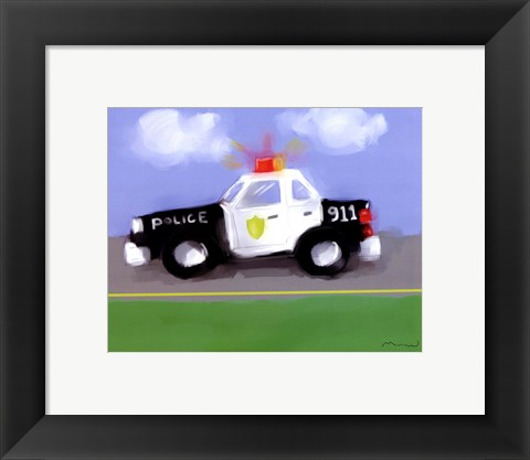 Framed Police Car Print