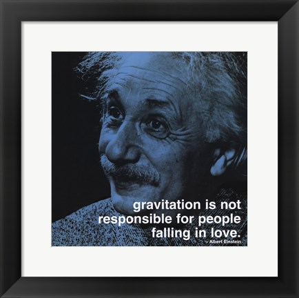 Framed Albert Einstein - iPhilosophy - Gravitation Print