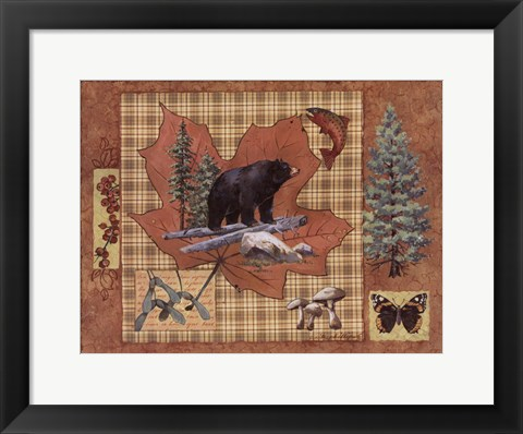 Framed Bear Leaf Print