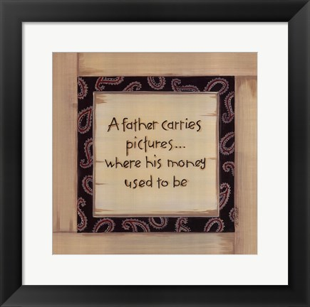 Framed Father Carries Print