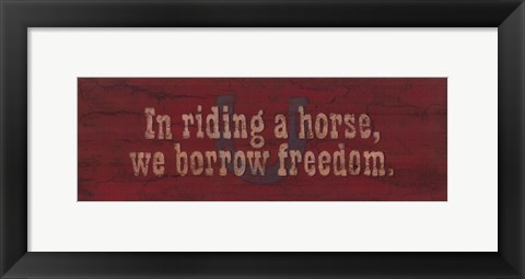 Framed Borrow Freedom Print