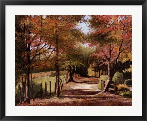 Framed Autumn Country Road Print